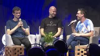Vitalik Buterin and Joe Lubin Discuss the Future of #Ethereum with Yoni Assia at #EtherealTLV