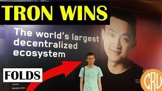 TRON WINS - Vitalik Buterin (Ethereum) Folds | Bitcoin and Cryptocurrency News