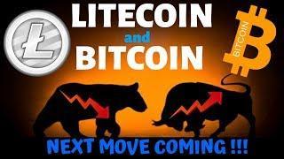 LITECOIN and BITCOIN NEXT MOVE COMING!!! litecoin bitcoin price prediction, ltc btc news
