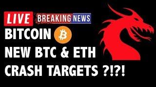 NEW Bitcoin (BTC) & Ethereum Crash Targets! - Crypto Market Technical Analysis & Cryptocurrency News