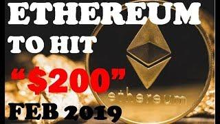 ETHEREUM TO $200 IN FEB 2019? - ETH PRICE PREDICTION TECHNICAL ANALYSIS