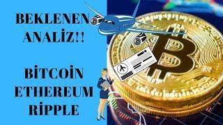 Bitcoin!! Dalgalanma Durmuyor!! Peki Bundan Sonra? Ethereum, Ripple Analiz!!