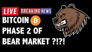 Phase 2 of Bitcoin (BTC) Bear Market Begins Now?! - Crypto Technical Analysis & Cryptocurrency News