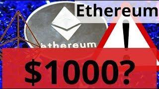 Ethereum $1000 в долгосрок? Биткоин падение ОБОРОТА