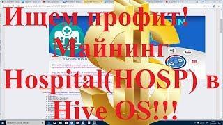 Ищем профит! Майнинг  Hospital(HOSP) в hive OS!!!
