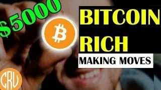 BITCOIN RICH Are Making Moves! BTC at $5000 | Bitcoin and Cryptocurrency News