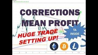 Bitcoin Litecoin Ethereum - CORRECTIONS MEAN HUGE PROFITS - Technical Analysis 8/4/19