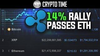 XRP Goes On 14% RALLY and FLIPS Ethereum!! (Why?)