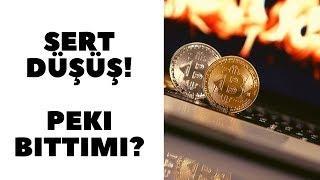 Bitcoin ve Ethereum Sert Düştü!! Düşüş Bitti mi? Son Durum.!
