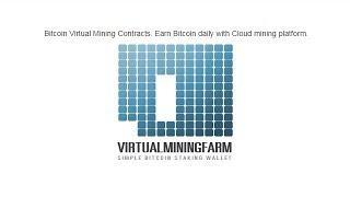 Облачный майнинг VirtualMiningFarm! + 100 GHS для начала майнинга