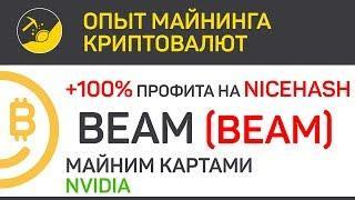 BEAM на NiceHash + 100% профита, майним картами Nvidia | Выпуск 148 | Опыт майнинга криптовалют