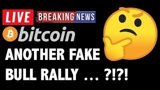 Bitcoin ANOTHER FAKE OUT RUN?! - LIVE Crypto Market Trading Analysis & BTC Cryptocurrency Price News