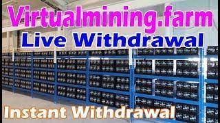 ОБЛАЧНЫЙ МАЙНИНГ БИТКОИНОВ  ПРОВЕРЯЕМ НА ВЫВОД virtualmining.farm