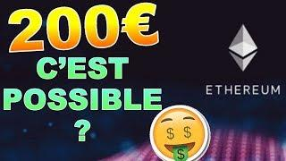 ETHEREUM 200€ GROSSE HAUSSE POSSIBLE  !? ETH analyse technique crypto monnaie bitcoin