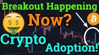 Bitcoin Breakout Happening NOW?! HUGE Ripple XRP News! Cryptocurrency Adoption! BTC Trading + News