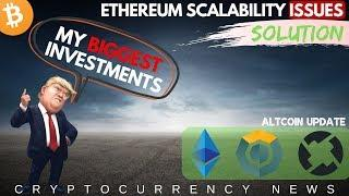 Trump's BIGGEST Investments! Ethereum Scalability Issues, Komodo, 0x and Bitcoin Update
