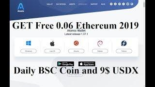 Earn Free 0.06 Ethereum 2019||  Get Daily BSAI Exchange Coin and 9$ USDX