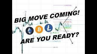 Litecoin Bitcoin Ethereum - HUGE BREAKOUT VERY SOON! Technical Analysis BE READY