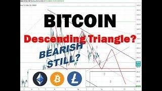 Descending Triangle?  Bitcoin Litecoin Ethereum Market Update Technical Analysis 8/30/19