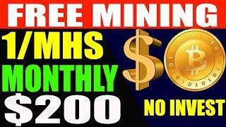 Earn Up To $200 Free Bitcoin Mining Earn Money Online USD  No Investment Real Payment Proof