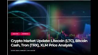 Обновление рынка криптовалют: Litecoin (LTC), Bitcoin Cash, Tron (TRX), анализ цен XLM