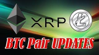 XRP, Litecoin (LTC), Ethereum (ETH) Update. Looking at the BTC Pairs. Crypto Technical Analysis