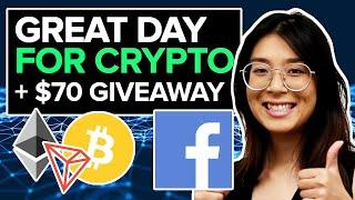 VERY BULLISH Crypto News for Bitcoin, Ethereum, Tron and Facebook!!! + $70 BTC Giveaway