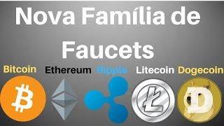 Nova Família de Faucets Ganhe Bitcoin,Ethereum,Ripple,Litecoin e Dogecoin Grátis