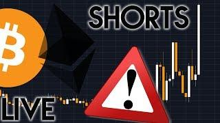 Bitcoin keeps falling & Bitcoin and Ethereum SHORTS ALL TIME HIGH!