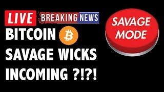 Bitcoin SAVAGE BOT WICKS Incoming for BTC?! - Crypto Market Trading Analysis & Cryptocurrency News