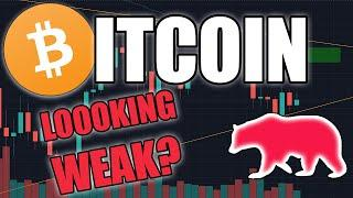 BITCOIN LOOKING WEAK? | BTC Price Update